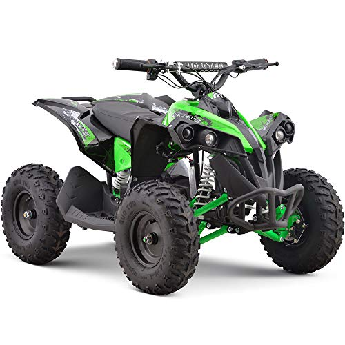 MotoTec 36v 500w Renegade Shaft Drive Kids ATV 4-Wheeler Quad Green