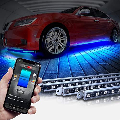 OPT7 Aura Pro Underglow for Car Aluminum, Bluetooth APP Control LED exterior underbody Lighting Kit,...