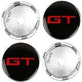 4 piezas rueda del coche Llanta centro Hub Cap Badge Trim Sticker aluminio Tapas centrales para Alfa Romeo VW Polo Golf Passat B5 Touran, Emblemas cubierta ajuste automático del vehículo, 60MM