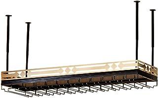 YZ-YUAN Support de Verre à Champagne réglable Durable Support de Verres à Pied Support de gobelets de Style de Plafond Por...
