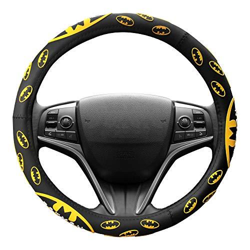 Finex Silicone Batman Superhero Auto Car Steering Wheel Cover - Black - Universal Fit