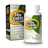 海外直送品 Genceutic Naturals Nano CoQ10 24 Hour, 60vcaps 100 mg [並行輸入品]