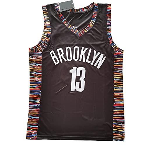 Camisetas de baloncesto para hombre, Brooklyn [nets]# 13 [Rdn], chaleco retro suelto transpirable, verano de secado rápido bordado deportivo XXL