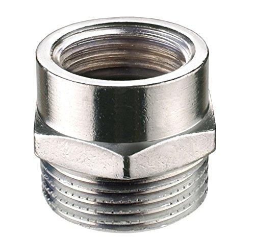Cornat chrom Übergangs-Stück 1/2 Zoll IGx3/4 Zoll AG, TEC386451