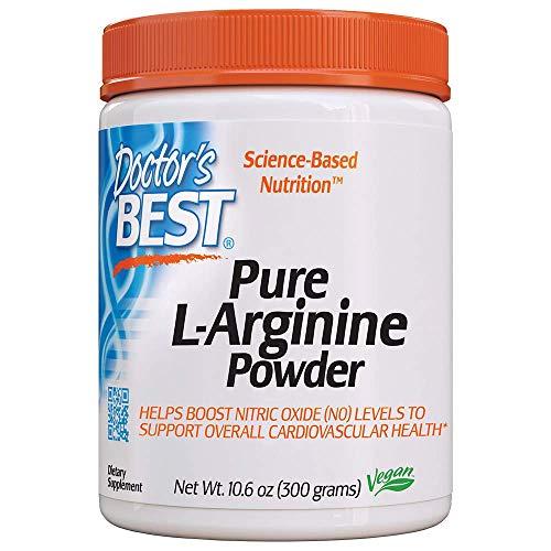 arginine powders Doctor's Best L-arginine HCL Powder, Non-GMO, Vegan, Gluten Free, Soy Free, Helps Promote Muscle Growth, 300g
