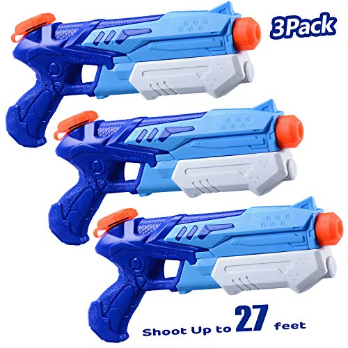 HITOP Water Guns for Kids 3 Pack Super Soaker Water Blaster Squirt Guns 300CC Toy Summer Swimming Pool Beach Sand Outdoor Water Fighting Play Toys Gifts for Boys Girls Children (3 Pack)