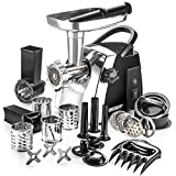 STX Turboforce Cadet Electric Meat Grinder, Vegetable Slicer & Sausage Stuffer - 4 Grinding Plates, 4 Slicing Drums, 3 S/S Blades, 3 Sausage Tubes, 1 Kubbe Maker, 2 Meat Claws & 1 Burger-Slider Press