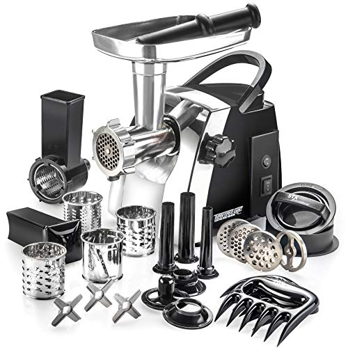 STX Turboforce Cadet Electric Meat Grinder, Vegetable Slicer &...