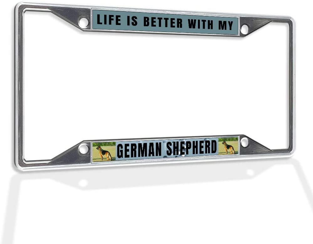 Indefinitely QDENG Gorgeous Aluminum Insert License Plate Frame My with Life is Better