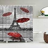 NHJUS Shower curtainParis Tower Paris Landscape Shower Curtains Bathroom Waterproof Bath Curtain Polyester Fabric Bathtub Bath Curtain