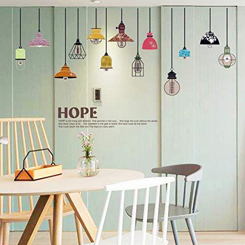 TAOYUE Kroonluchter Muurstickers Licht Lampje Home Decor voor Woonkamer Slaapkamer Art DIY Vinyl Muurstickers Verwijderbaar