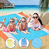Fricho Beach Blanket Sandproof, Picnic Blanket with waterproof backing Large Beach Mat S