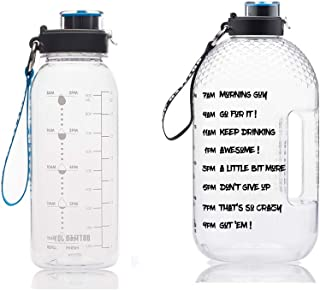 BOTTLED JOY 32oz Water Bottle and 1 Gallon Water Bottle with Time Marked Suite Products, Tritan BPA Free Water Bottle for ...