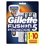 Gillette Fusion5 Proglide Regolabarba Uomo, Rasoio a Mano Libera, 10 Lamette da Barba (da 5 Lame), Manico Ergonomico con Tecnologia Flexball, Fino a 1 Mese di Rasatura con 1 Lametta