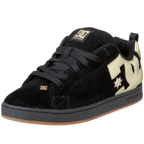 DC Heren Hof Graffik Cup Zool Sneaker, Zwart/Goud,6 M