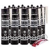 Quiadsa Fija Plus Turbo Polimero 290ml + Llavero Bricolemar de Regalo (12 x 290ml - Blanco)