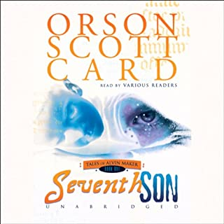 Seventh Son     Tales of Alvin Maker, Book 1              By:                                                                                                                                 Orson Scott Card                               Narrated by:                                                                                                                                 Scott Brick,                                                                                        Gabrielle de Cuir,                                                                                        Stephen Hoye                      Length: 9 hrs and 6 mins     2,541 ratings     Overall 4.2