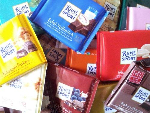 30 Tafeln Ritter Sport Schokolade a 100g 3kg Mix 15 Sorten
