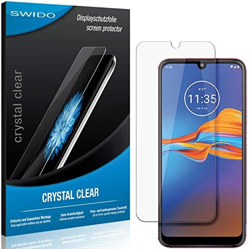 SWIDO Schutzfolie für Motorola Moto E6 Plus [2 Stück] Kristall-Klar, Hoher Festigkeitgrad, Schutz vor Öl, Staub & Kratzer/Glasfolie, Bildschirmschutz, Bildschirmschutzfolie, Panzerglas-Folie