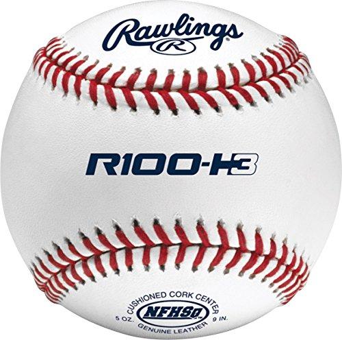 "Rawlings Raised Seams Official NFHS High School Baseballs, 12 Count, R100-H3 , 10-1/2"""