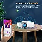 Zoom IMG-2 proiettore wimius wifi bluetooth 5g