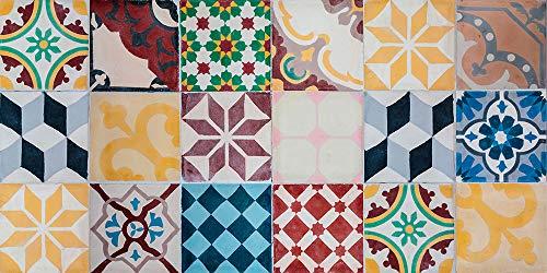 Viniko Vintage Tiles Tappeto in vinile 50x100 multicolore