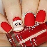 QULIN Uñas postizas Pre diseño de uñas postizas Unhas Artificiais Consejos completos de uñas falsas Gel Press en manicura Navidad 24pcs/set