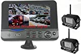 4Ucam TWO Digital Wireless Camera + 7' Monitor Quad-view Split screen for Bus, RV, Trailer, Motor Home, 5th Wheels and Trucks Backup or Rear View