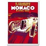LaMAGLIERIA Hochqualitatives Poster - Monaco Grand Prix1930