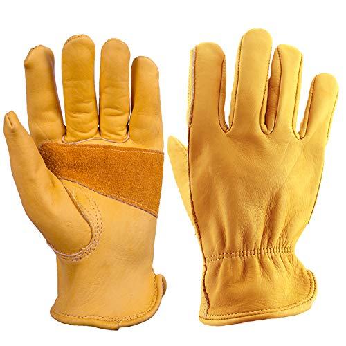 オゼロ(OZERO) 作業用手袋 耐熱グローブ 革手袋(本革) キャンプ 焚き火 アウトドア用 園芸用 バーベキュー 溶接 耐火 耐摩耗 防刃 Lサイズ