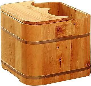 RUYII Wooden Hot Tub People Japanese Wood Fired Barrel Bath Spa Pool, Feet Spa Bucket Foot Relaxing