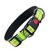 Hundehalsband von ABIsedrin, weich, reflektierend, verstellbar, Neopren, gepolstert, für kleine, mittelgroße und große Hunde