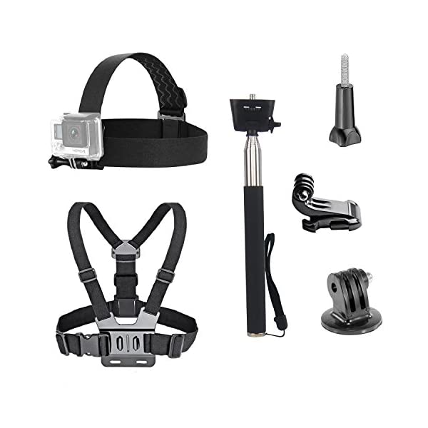 VVHOOY 3 in 1 Universal Waterproof Action Camera Accessories Bundle Kit – Head...