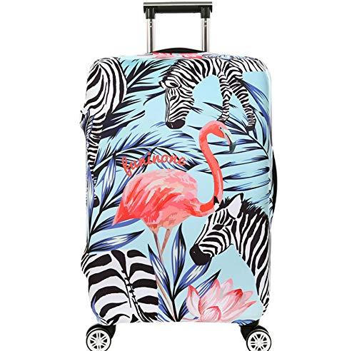 Animal Zebra Travel Equipaje De Viaje Protector De Maleta Se Adapta A 26-28 Pulgadas Equipaje (L) Flamingo Equipaje Trolley Funda Cubierta Protectora