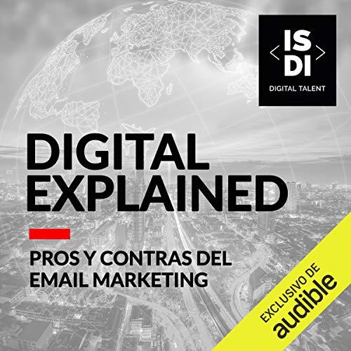 Diseño de la portada del título Pros y Contras del email Marketing