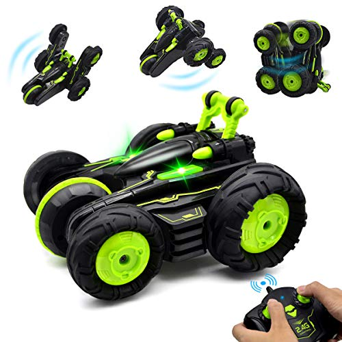 Remote Control Car for Boys, BIBIELF RC Cars Stunt Car Toy, 4WD 2.4Ghz 2.4Ghz 360° Rotating Flips RC Car with Lighting, Kids Xmas Toy Cars for Boys/Girls