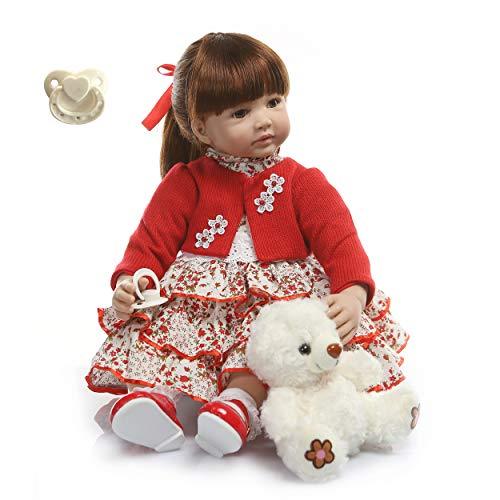 6-9M Baby Size 60CM Reborn Toddler Girl Princess Doll Surprice Silicone Vinyl Girl Kid Bebes Reborn Handmade -  RBB Dolls, 24NPK1772