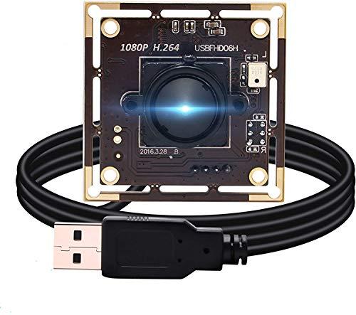 ELP Kamera 1080P Webcam H.264 Low Light USB Camera Mini Kamera Modul (3.7mm Objektiv USB Kamera Modul)