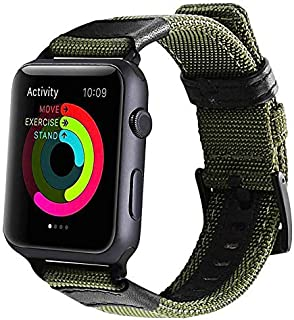 Soft Nylon Sport Replacement Band Compatible for iWatch Series 1/2/3/4, for Apple Watch Band 38mm 42mm,Green,42mm