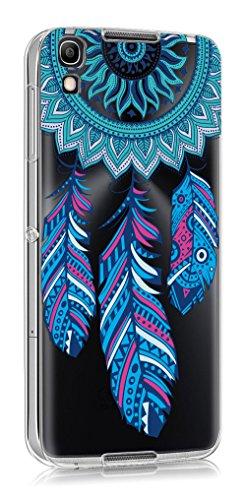 Sunrive Für Alcatel Idol 4 Hülle Silikon, Transparent Handyhülle Schutzhülle Etui Hülle Backcover für Alcatel Idol 4 5,2 Zoll(TPU Traumfänger)+Gratis Universal Eingabestift