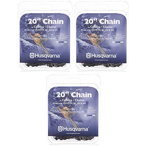 "Set of 3 Husqvarna 20"" Chains .325 .050 80 Drive Links 531309680 346XP 450 550XP"