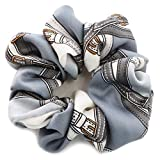 [ジュエルボックス] JewelVOX ヘアアクセサリー スカーフ柄 デザイン シュシュ グレー 選択