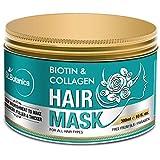StBotanica Biotin & Collagen Strengthening Hair Mask, 300ml - Revives Dull, Dry, Damaged