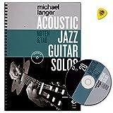 Acoustic Jazz Guitar Solos–20Jazz Classics partitions de Michael Langer–Carnet de note et Tab–auteur: avec CD et Dunlop plek–dux9089783868493191