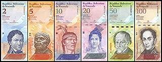 Banknote Venezuela 2 - 100 Bolivares 6 (PCS), 2007-2016, P-88-93, UNC, Full Set- Genuine Rare
