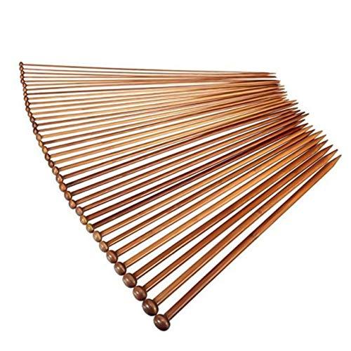 Shilia Nieuwste 36 Stks/Pack Enkele Punt Bamboe Breinaalden Set Breien Gereedschap Kit Voor Beginner