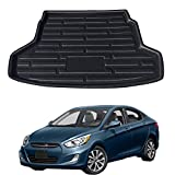 Alfombrilla protectora para maletero trasero de coche, para Hyundai Solaris Accent Verna I25 2011-2017 para Dodge Attitude Sedan 2011-2014, color negro, impermeable, accesorios de coche