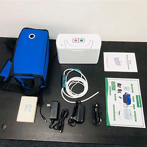 FSYG Concentrador de oxígeno portátil con batería Recargable extraíble para el hogar y el Viaje Use el Mejor concentrador de oxígeno