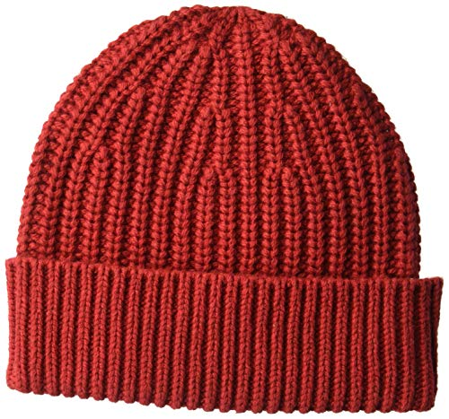 Goodthreads Men's Marled Beanie, Red, One Size
