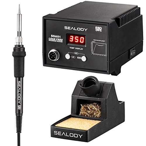 Digital Soldering Station with Pure Aluminum Soldering Stand, Tip...